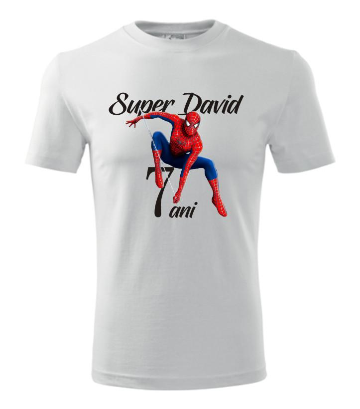 Imagine produs TRICOU COPII ANIVERSARE SPIDERMAN
