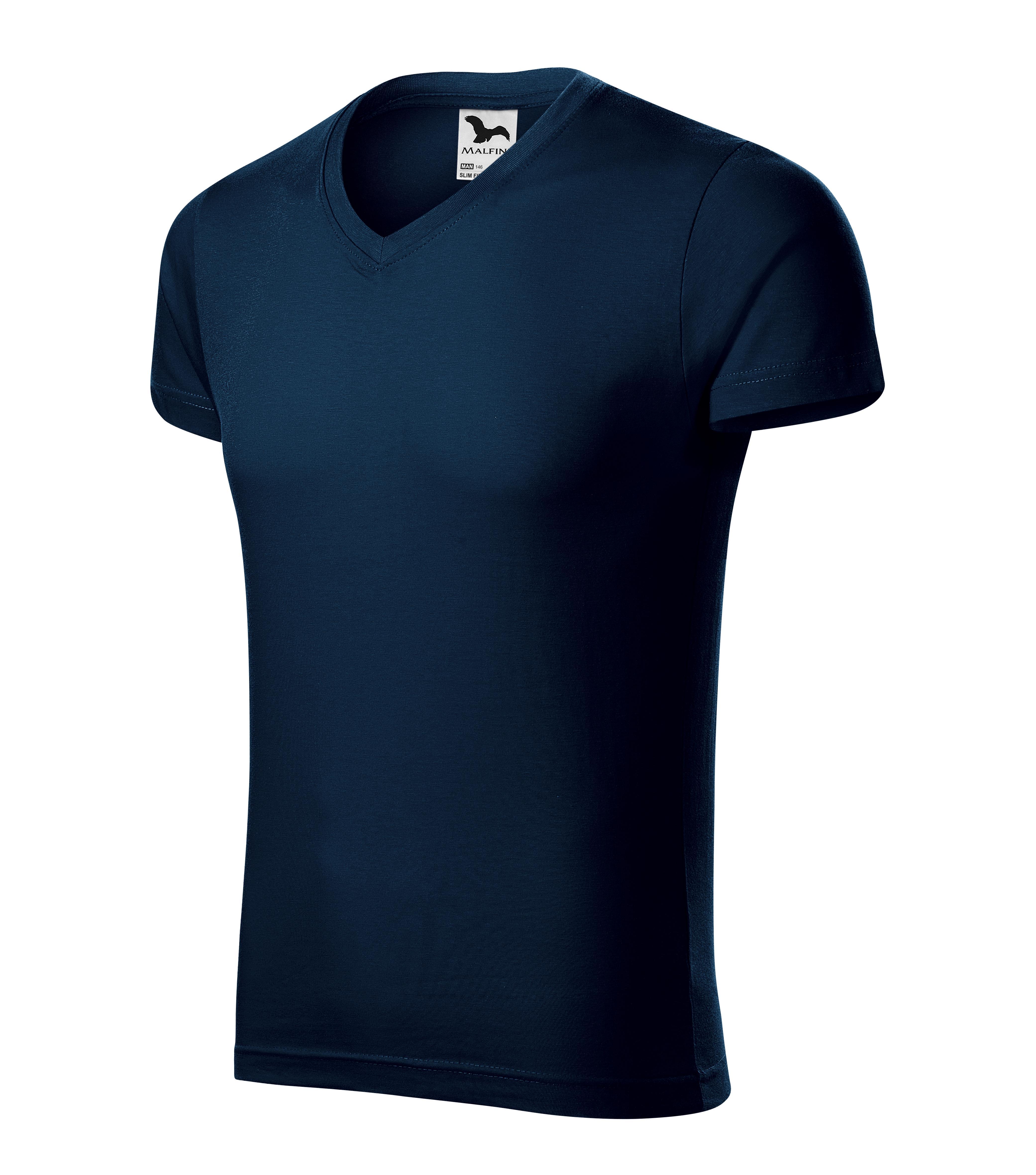 Imagine produs Tricou clasic pentru bărbaţi Slim Fit V-neck ALBASTRU MARIN
